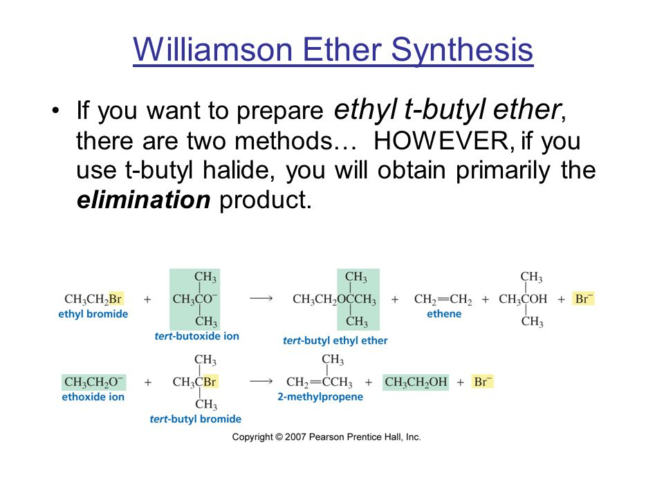 Williamson Ether Synthesis