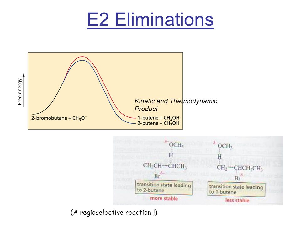 E2 Eliminations Kinetic and Thermodynamic Product