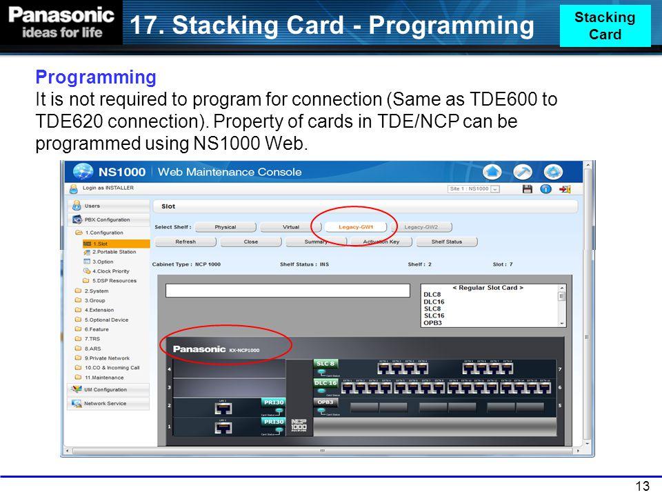 17. Stacking Card - Programming