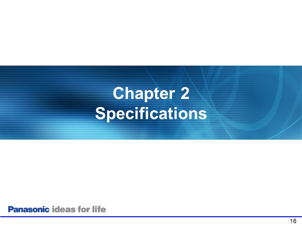 Chapter 2 Specifications