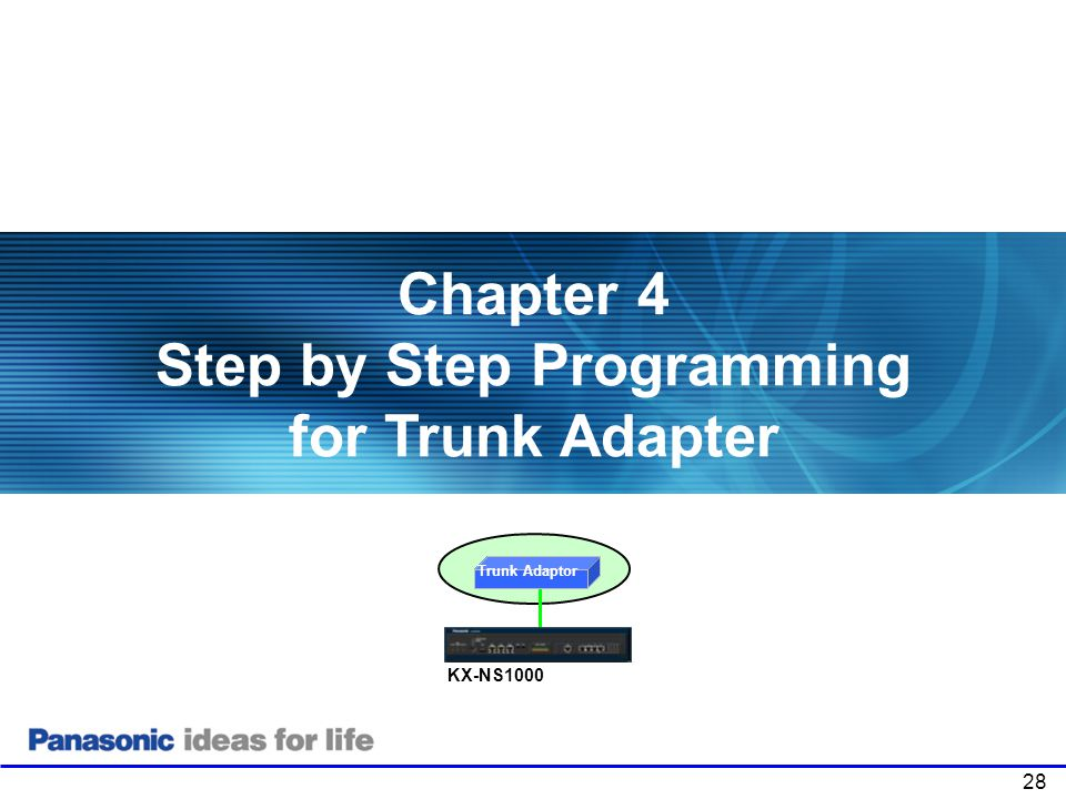 Chapter 4 Step by Step Programming for Trunk Adapter