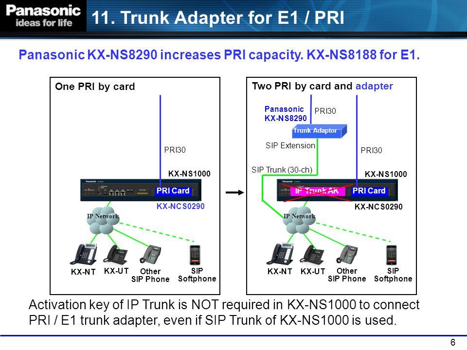 11. Trunk Adapter for E1 / PRI