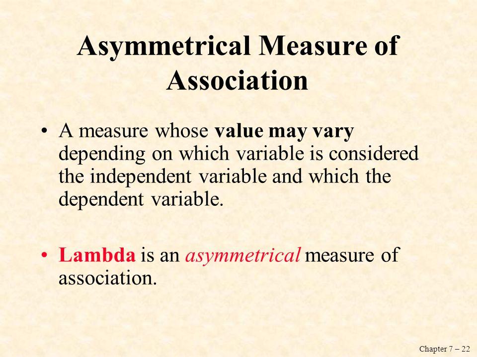 Asymmetrical Measure of Association