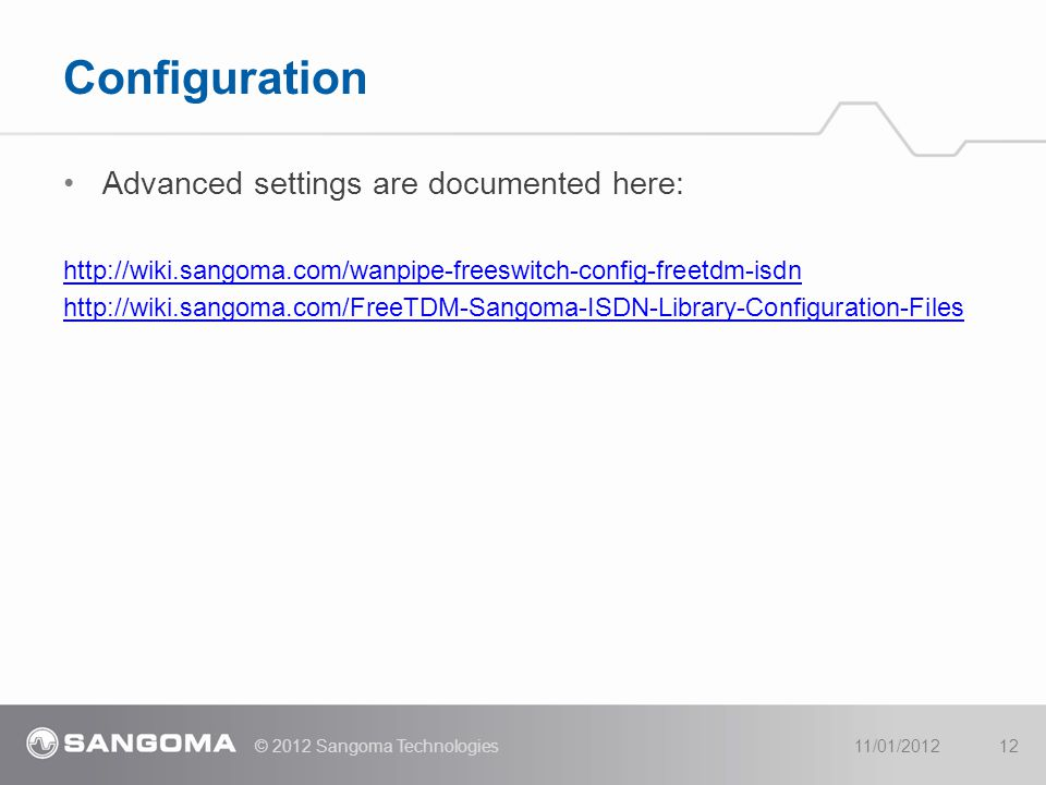 Configuration Advanced settings are documented here: