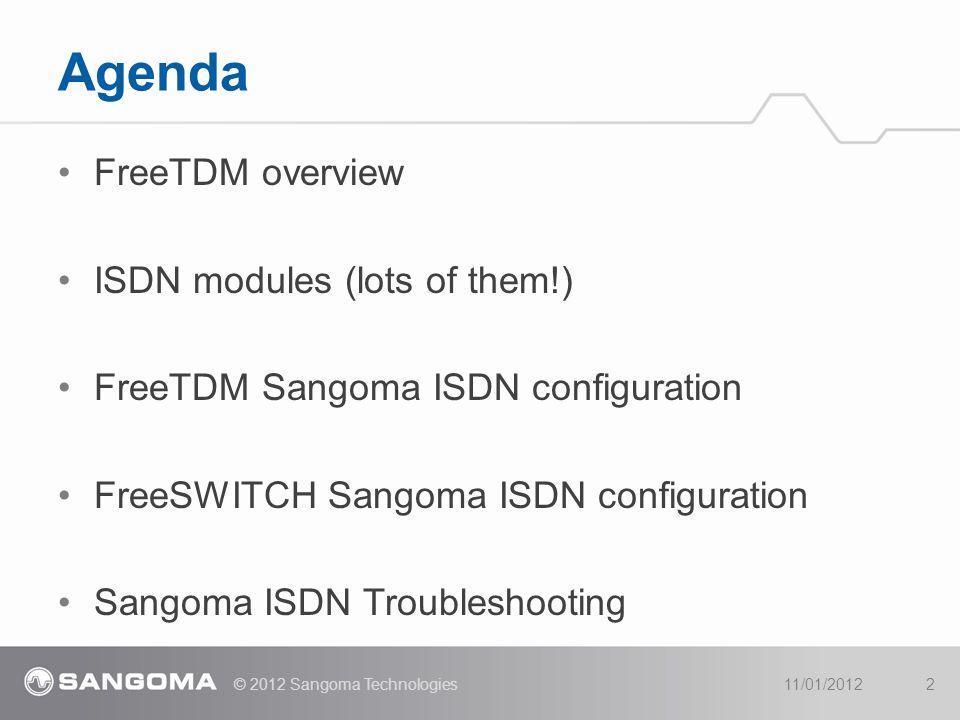 Agenda FreeTDM overview ISDN modules (lots of them!)