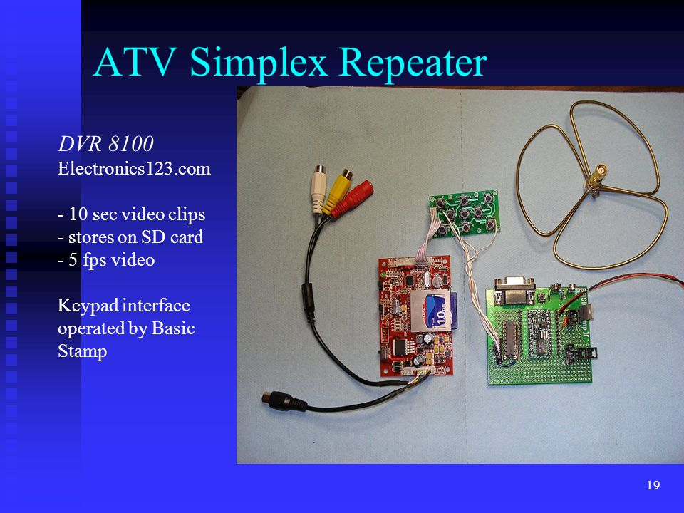 ATV Simplex Repeater DVR 8100 Electronics123.com - 10 sec video clips