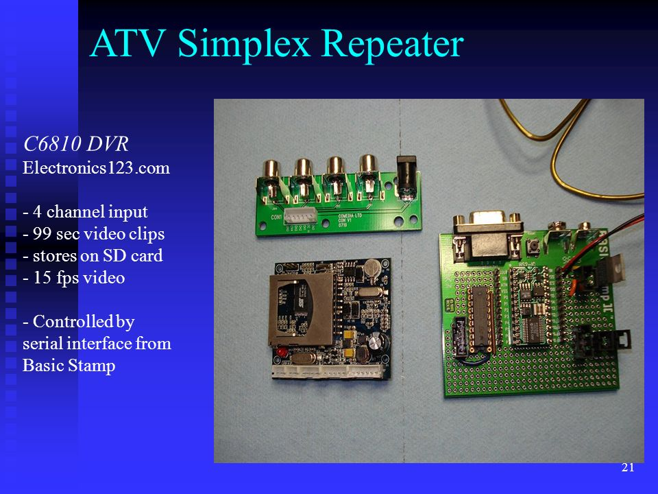 ATV Simplex Repeater C6810 DVR Electronics123.com - 4 channel input