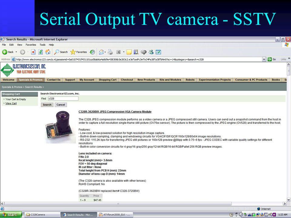 Serial Output TV camera - SSTV