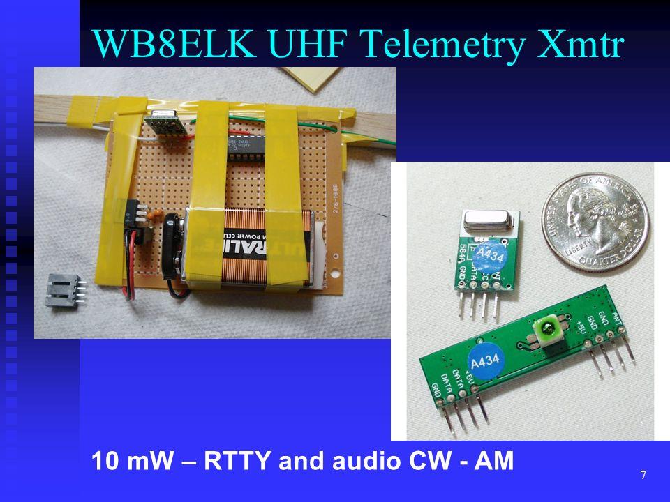 WB8ELK UHF Telemetry Xmtr