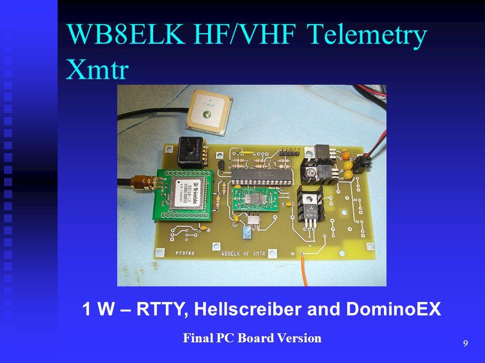 WB8ELK HF/VHF Telemetry Xmtr