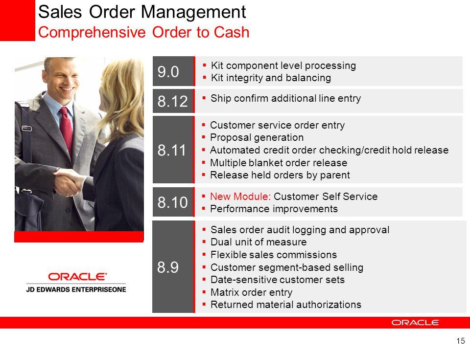 Sales Order Management Comprehensive Order to Cash