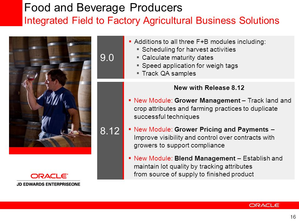 JD Edwards EnterpriseOne Release History and Highlights