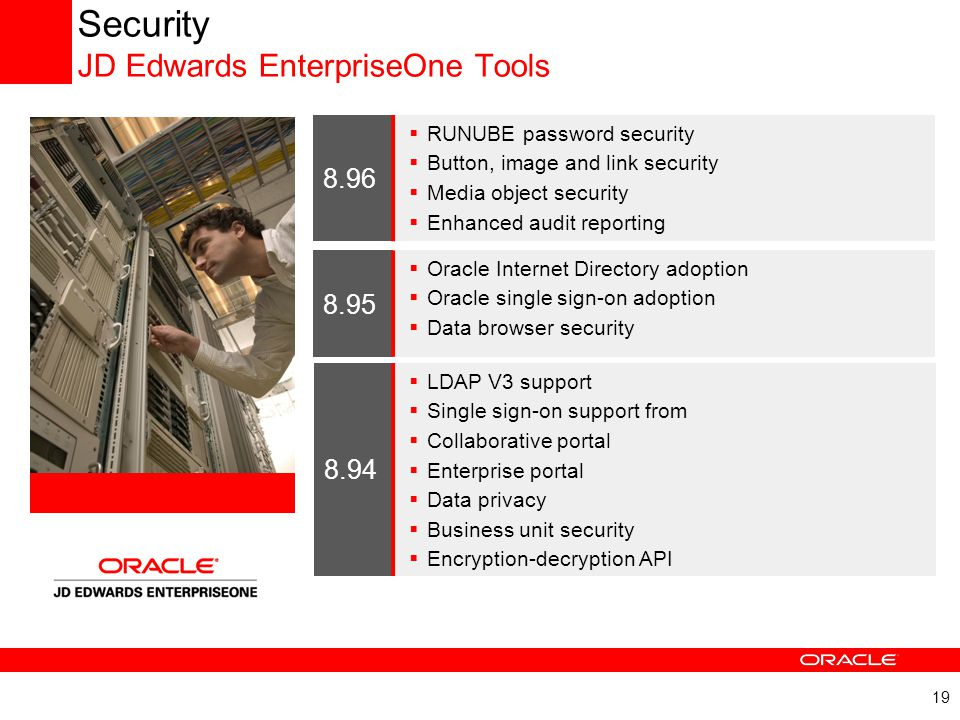Security JD Edwards EnterpriseOne Tools