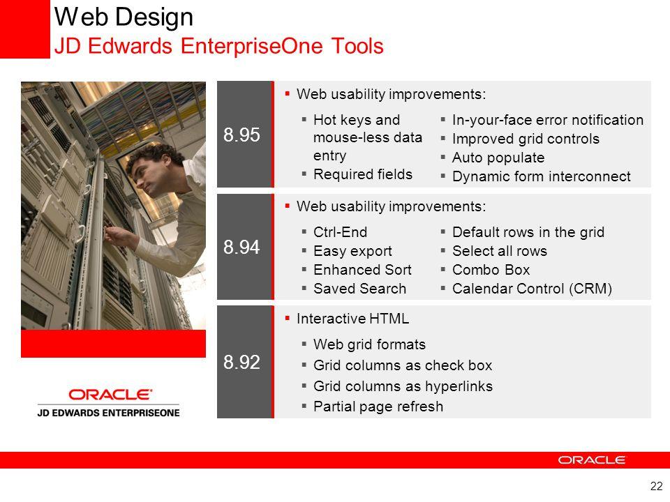 Web Design JD Edwards EnterpriseOne Tools