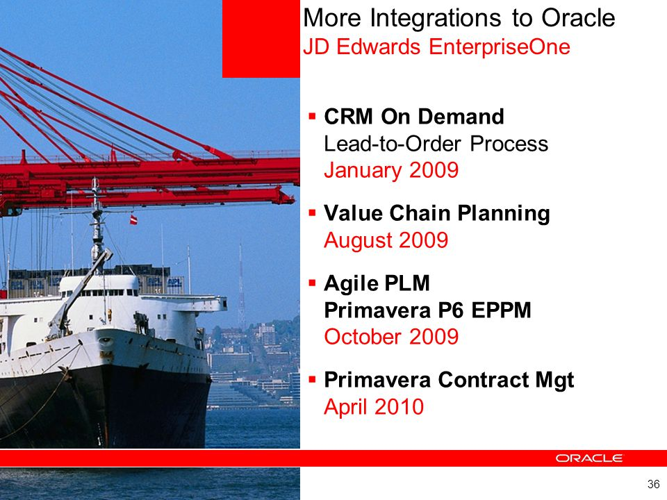 More Integrations to Oracle JD Edwards EnterpriseOne