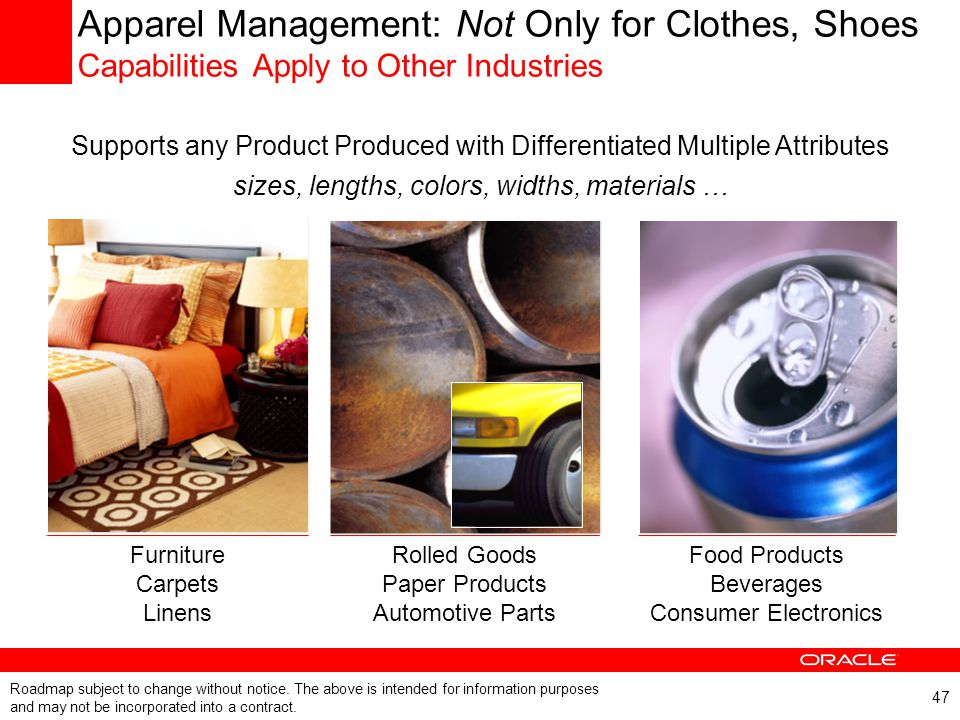 Apparel Management: Not Only for Clothes, Shoes Capabilities Apply to Other Industries