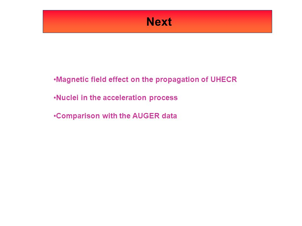 Next Magnetic field effect on the propagation of UHECR