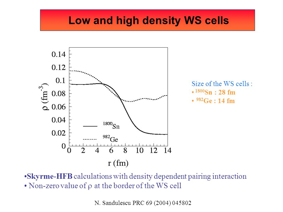 Low and high density WS cells