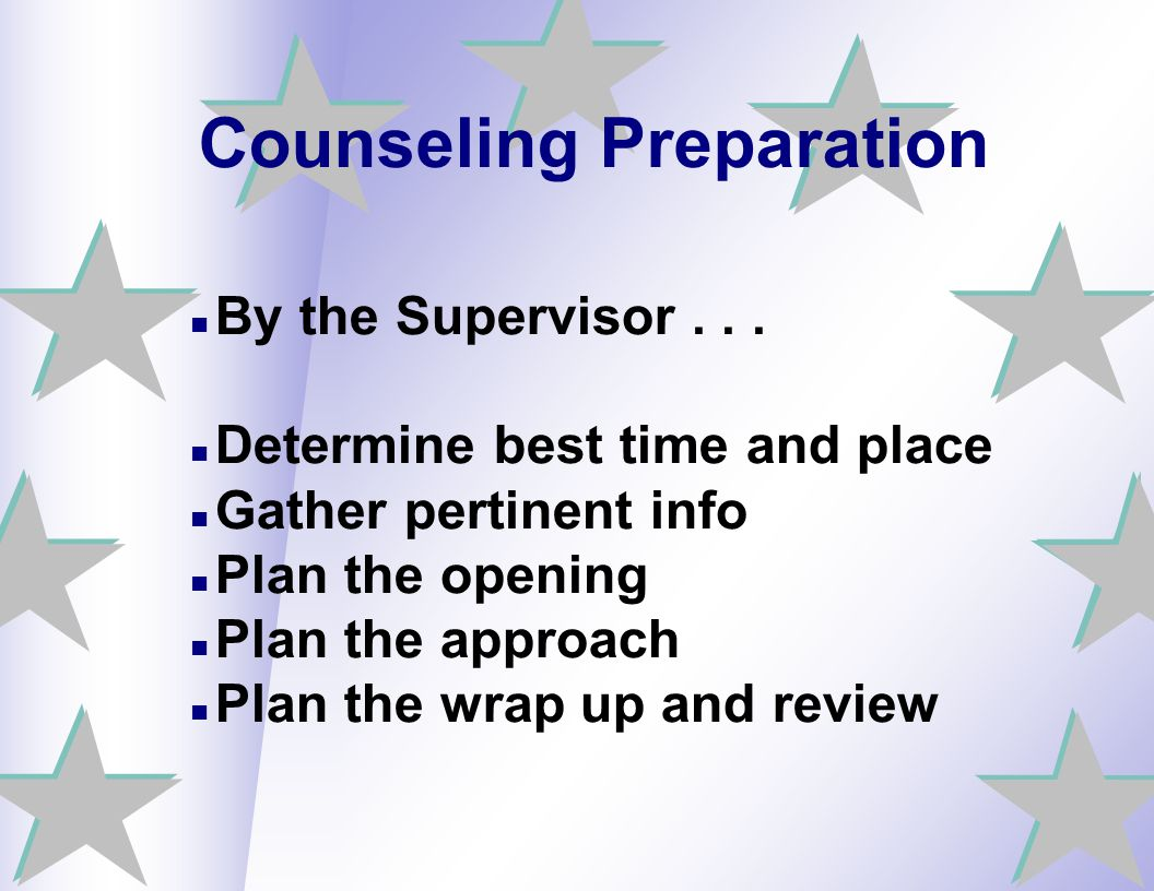 Counseling Preparation