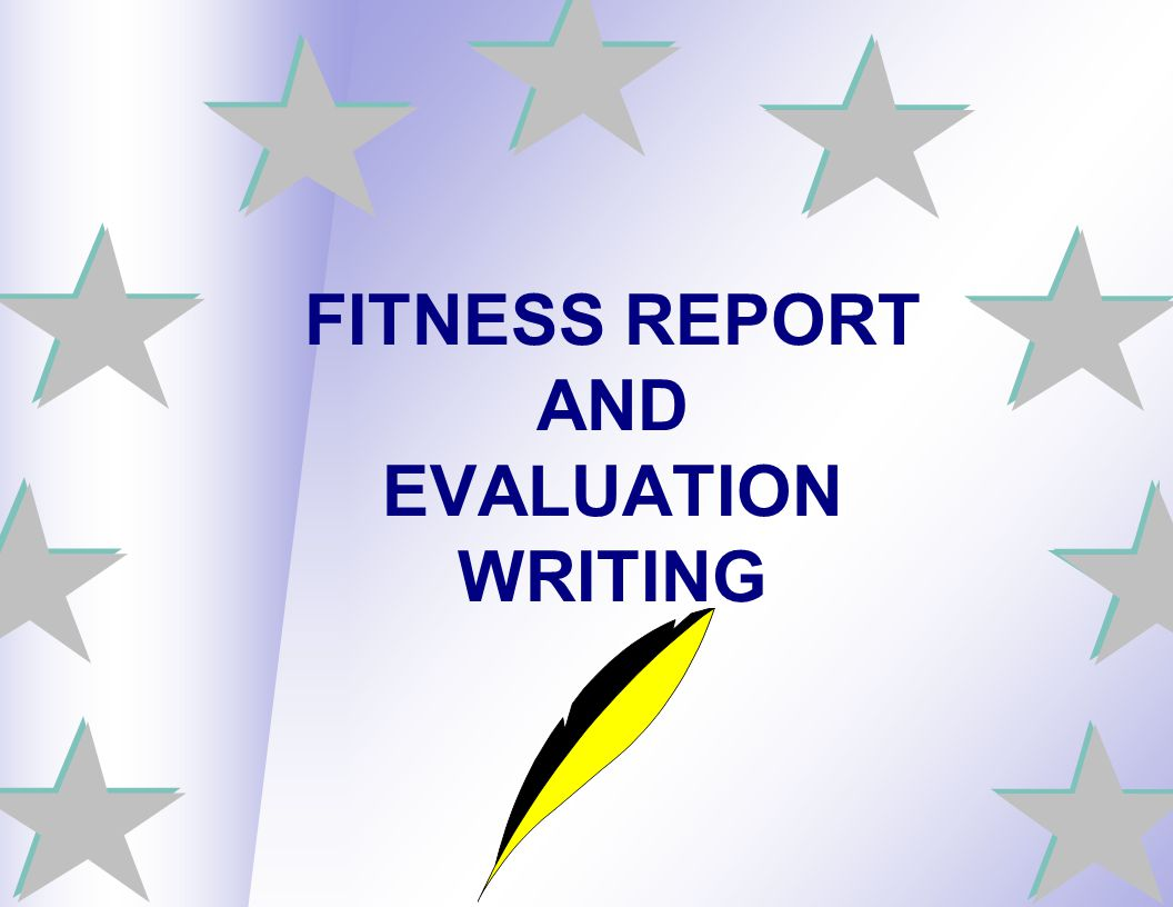 FITNESS REPORT AND EVALUATION WRITING