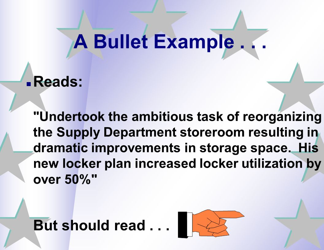 A Bullet Example . . .