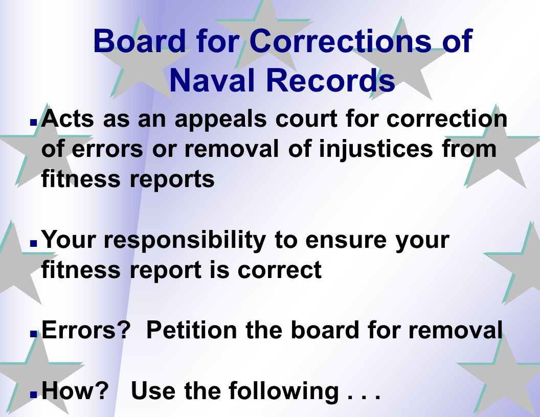 Board for Corrections of