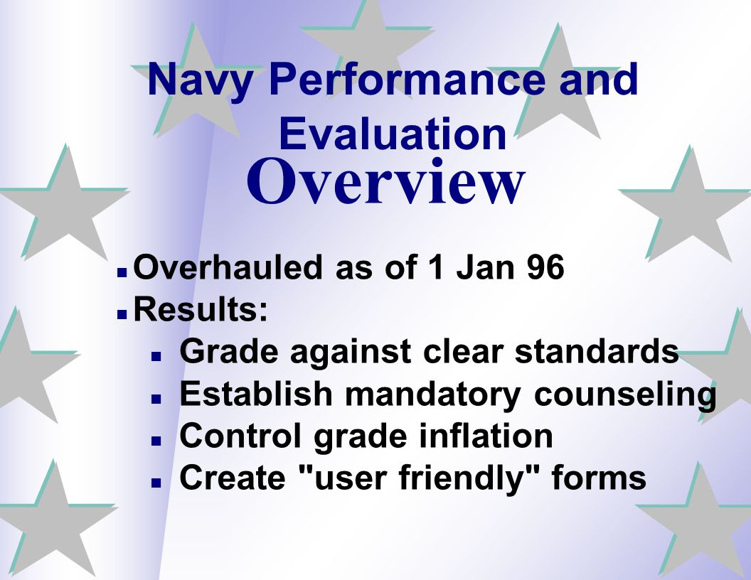 Navy Performance and Evaluation