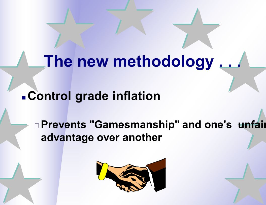 The new methodology . . . Control grade inflation