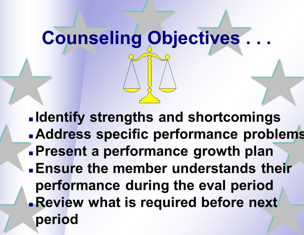 Counseling Objectives . . .