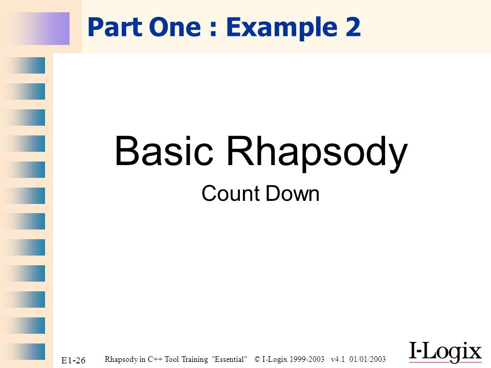 Basic Rhapsody Count Down