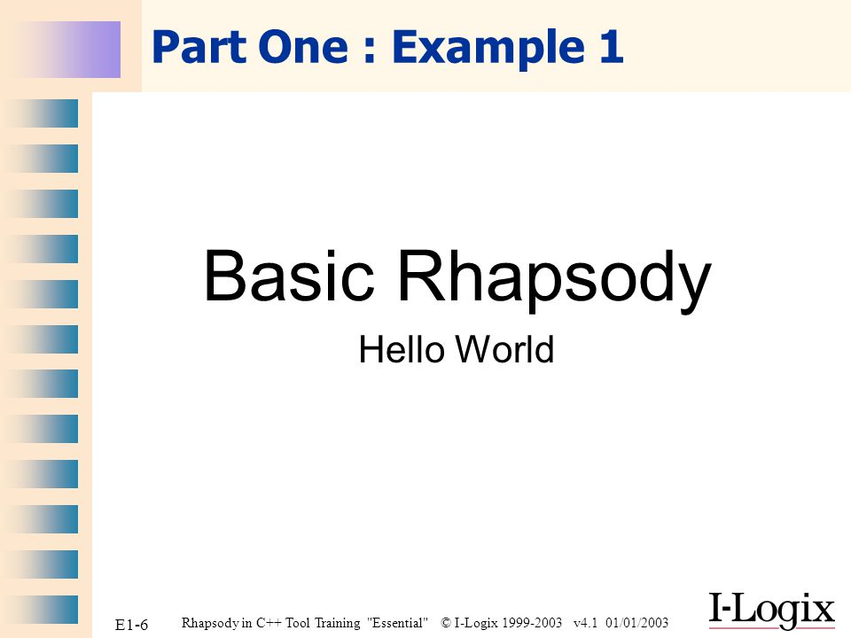 Basic Rhapsody Hello World