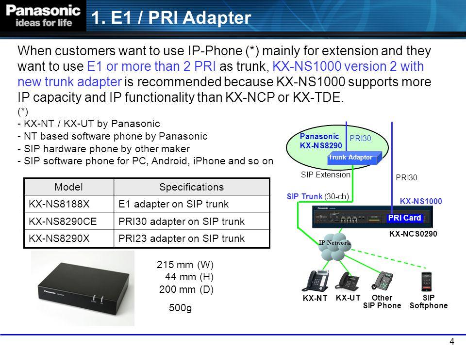 1. E1 / PRI Adapter