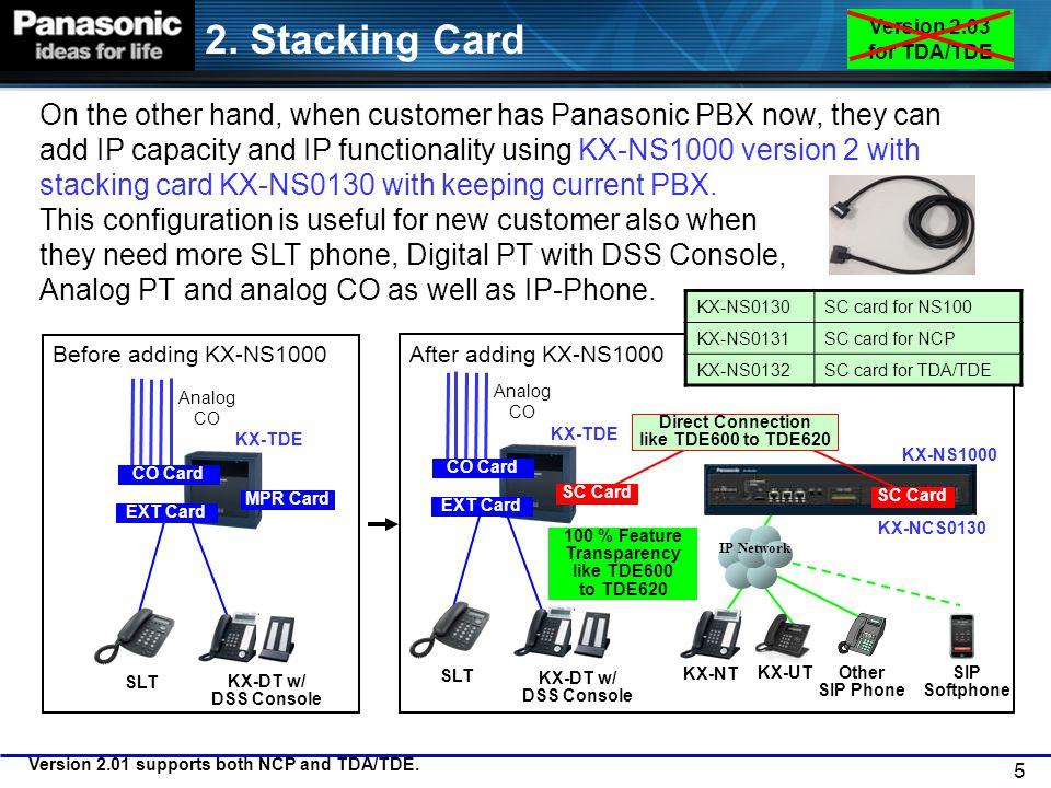 2. Stacking Card Version 2.03 for TDA/TDE.
