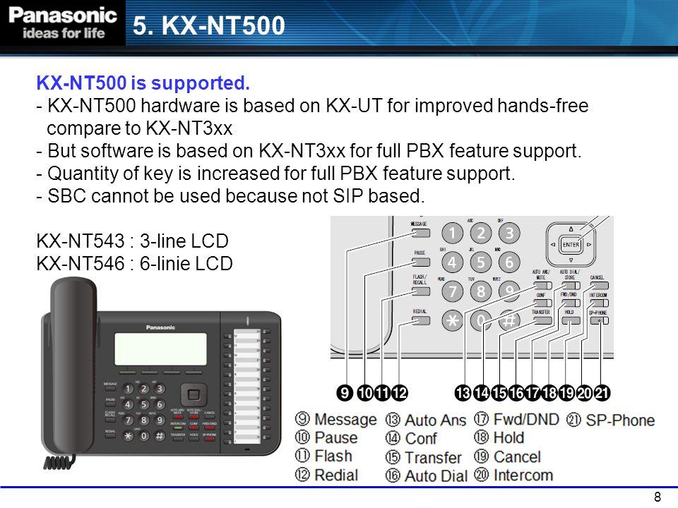 5. KX-NT500