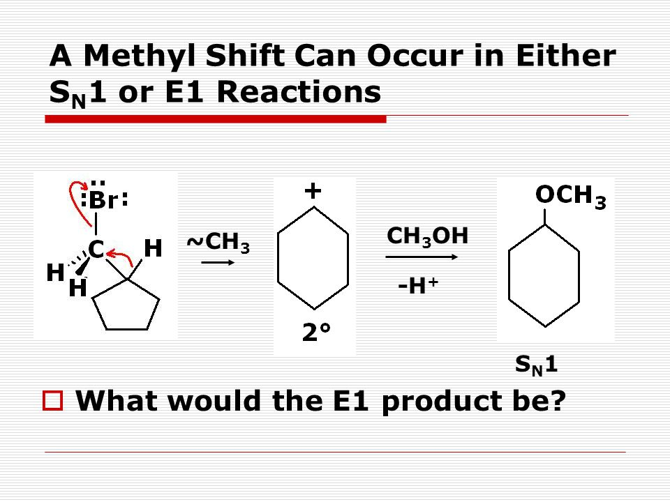 A Methyl Shift Can Occur in Either SN1 or E1 Reactions
