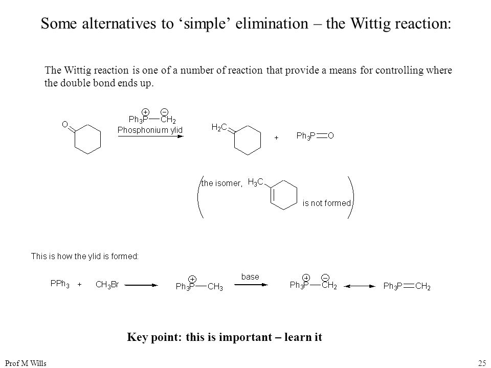 Some alternatives to 'simple' elimination – the Wittig reaction: