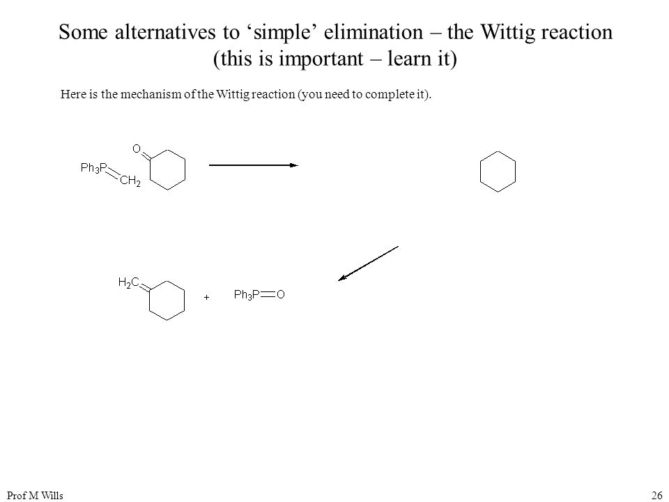 Some alternatives to 'simple' elimination – the Wittig reaction