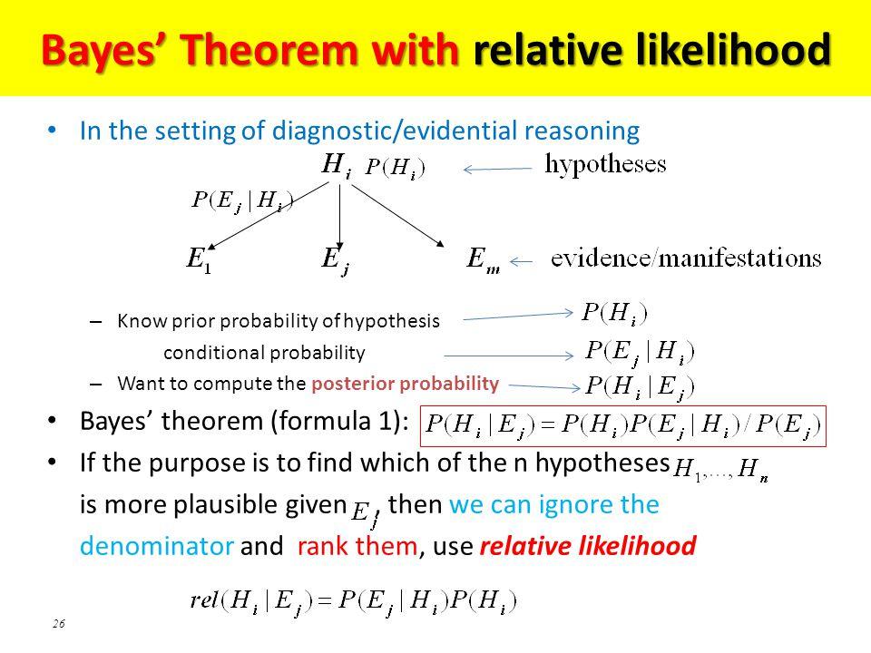 Bayes' Theorem with relative likelihood