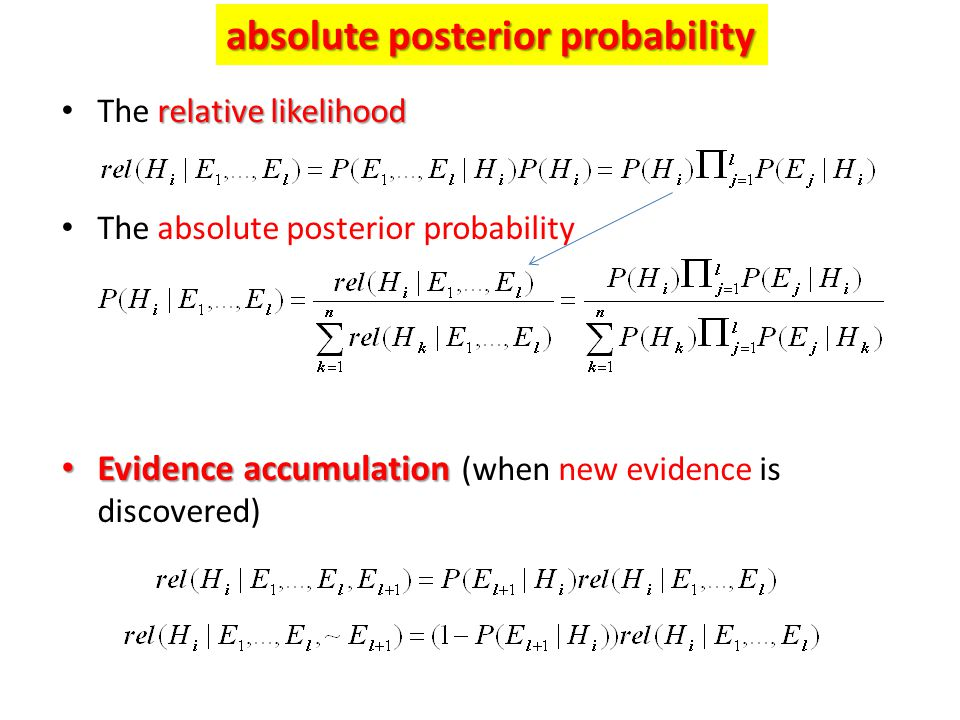absolute posterior probability