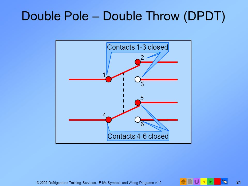Double Pole – Double Throw (DPDT)