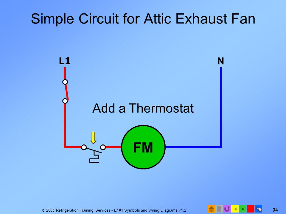 Simple Circuit for Attic Exhaust Fan
