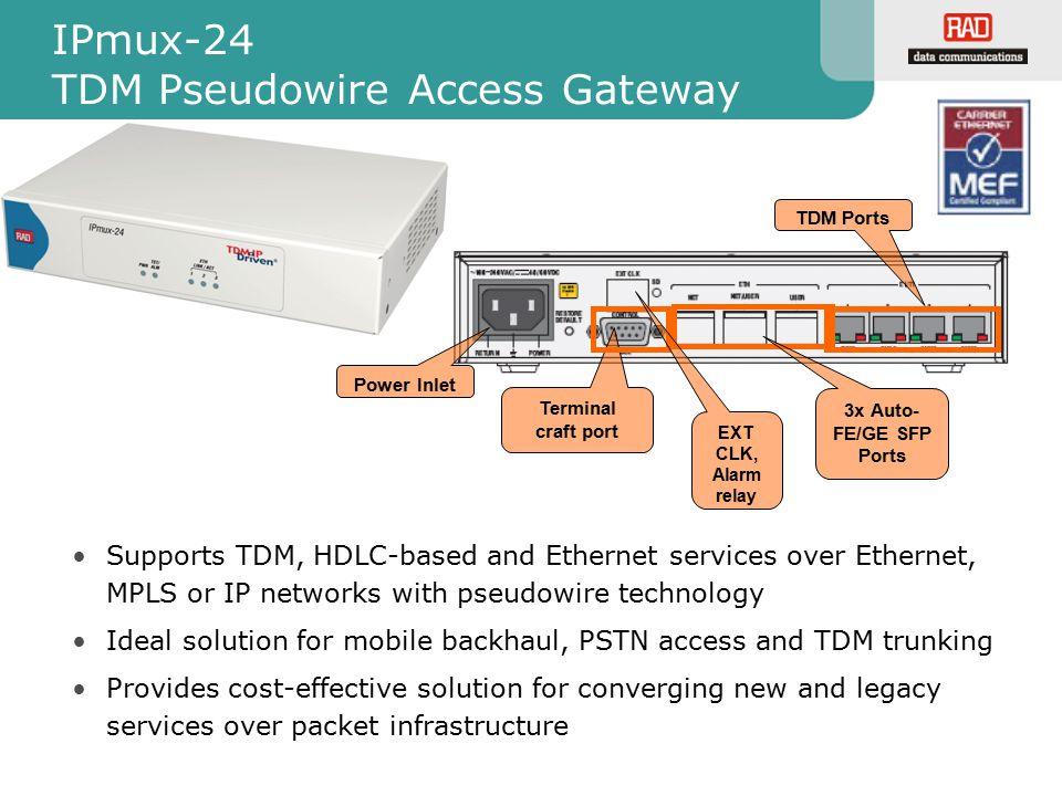 IPmux-24 TDM Pseudowire Access Gateway