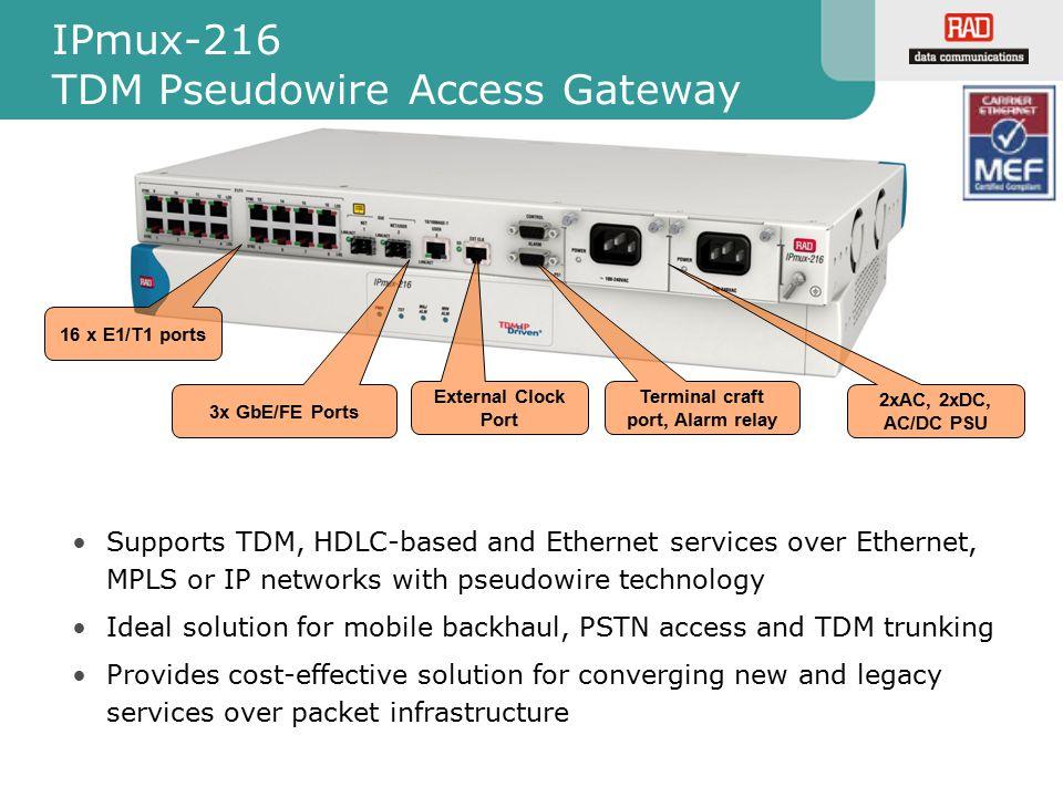 IPmux-216 TDM Pseudowire Access Gateway