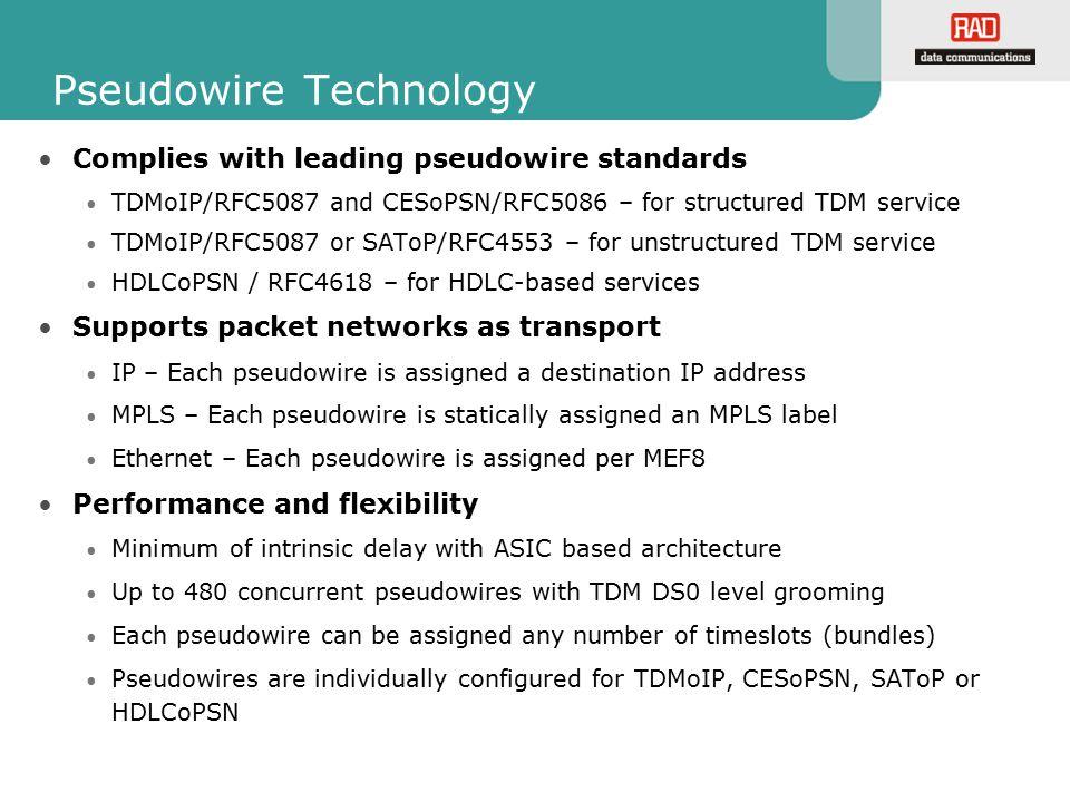 Pseudowire Technology