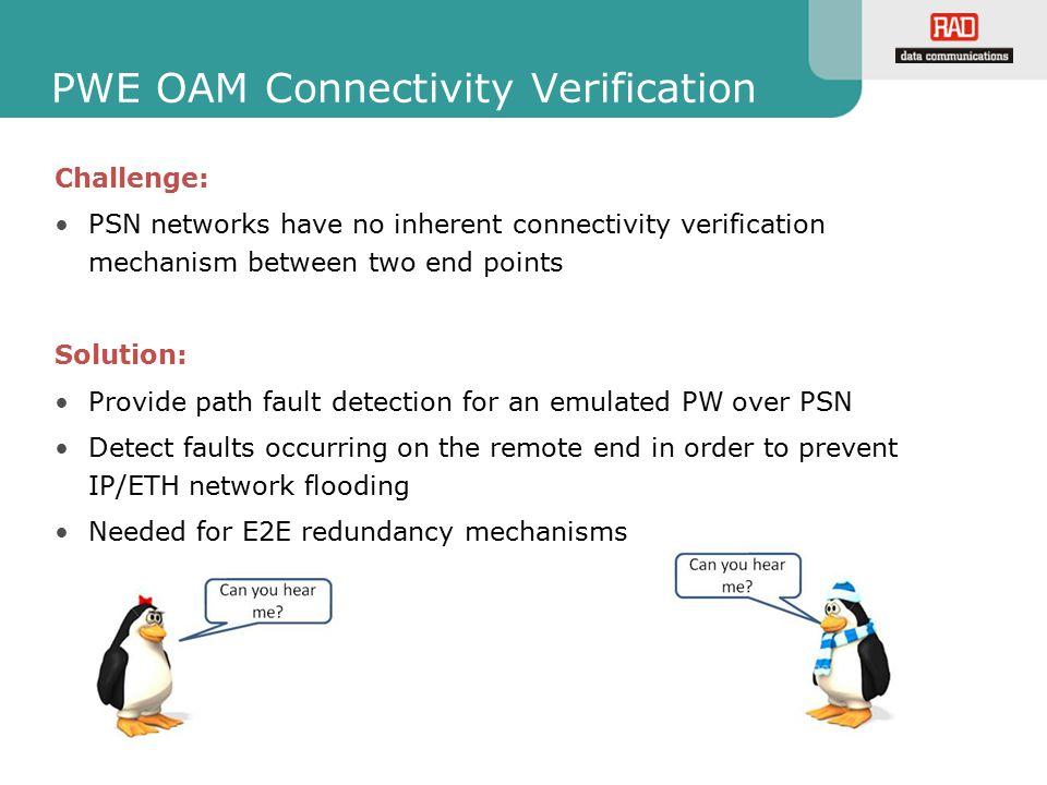 PWE OAM Connectivity Verification