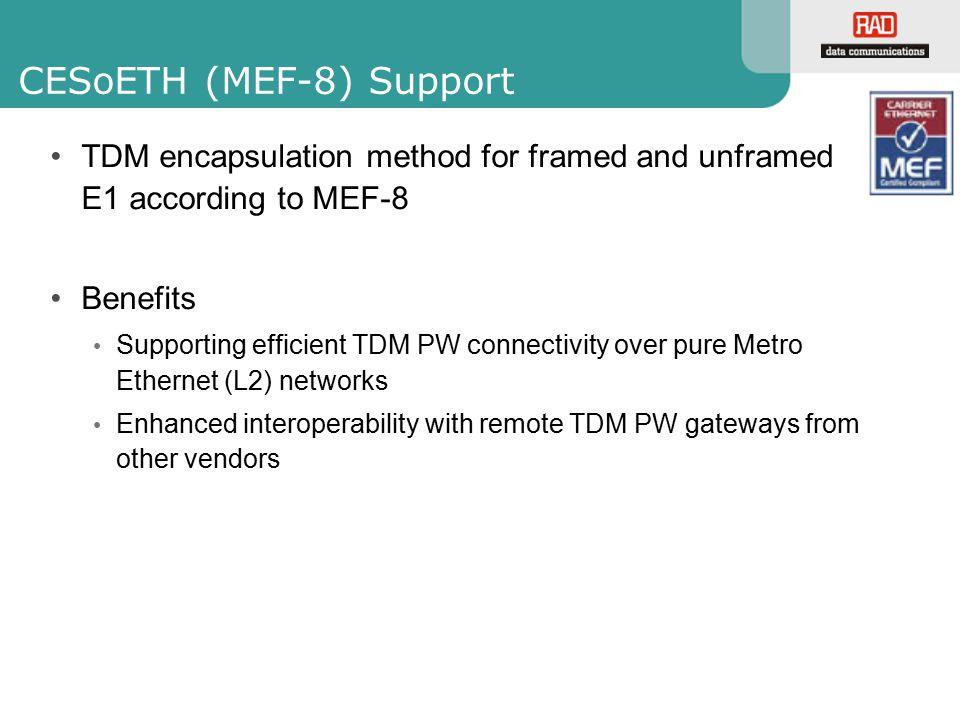 CESoETH (MEF-8) Support