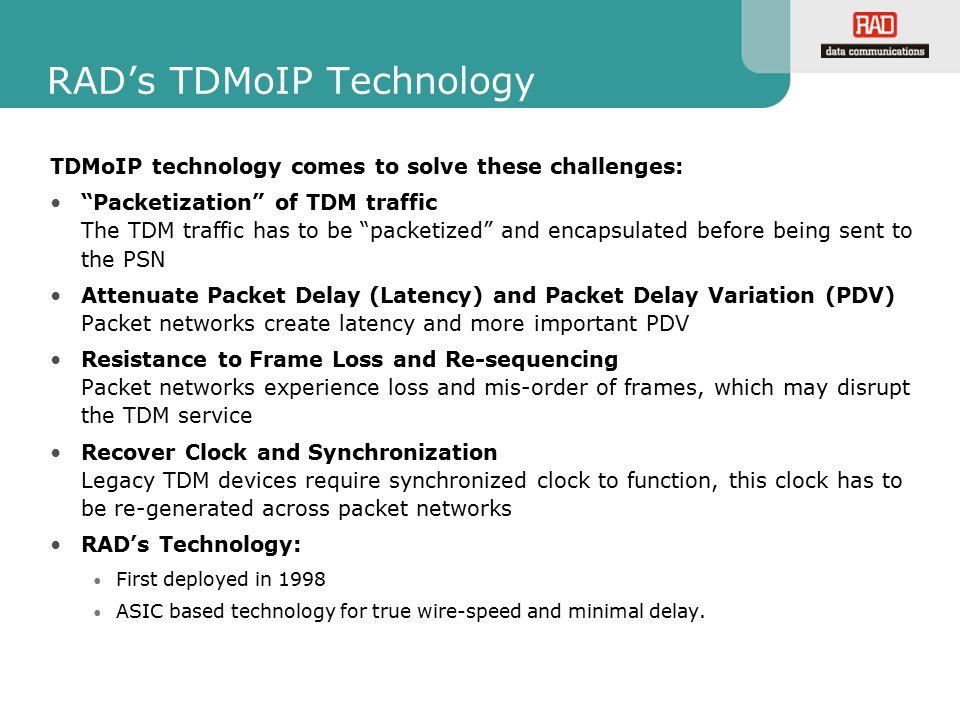 RAD's TDMoIP Technology