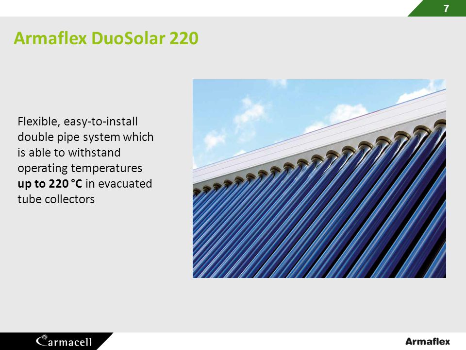 Armaflex DuoSolar 220 Flexible, easy-to-install