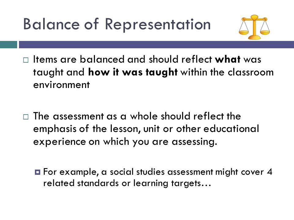 Balance of Representation