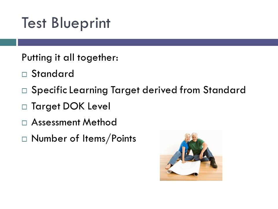 Test Blueprint Putting it all together: Standard